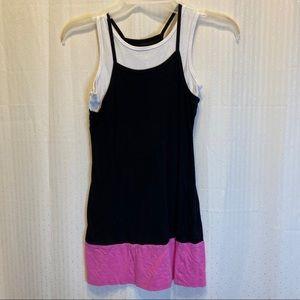 Candy Coast tank black, white, and pink dress